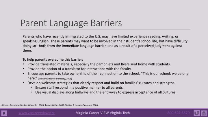 Parent Language Barriers