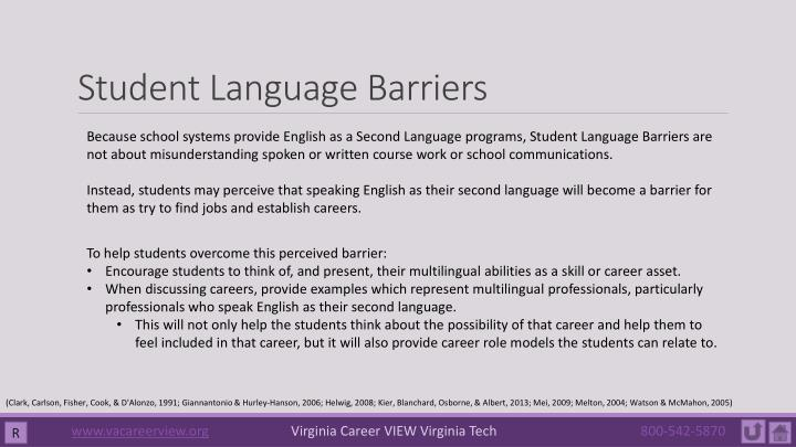 Student Language Barriers