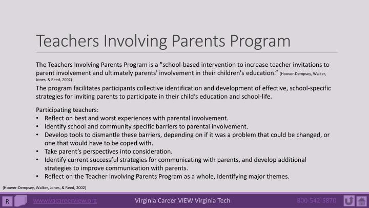 Teachers Involving Parents Program