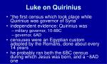 luke on quirinius
