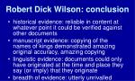 robert dick wilson conclusion