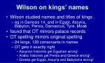 wilson on kings names