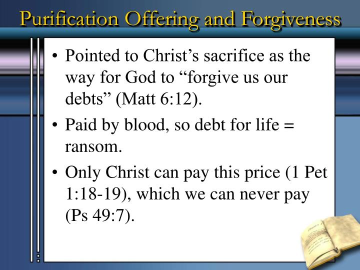 Purification Offering and Forgiveness