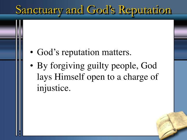 Sanctuary and God's Reputation