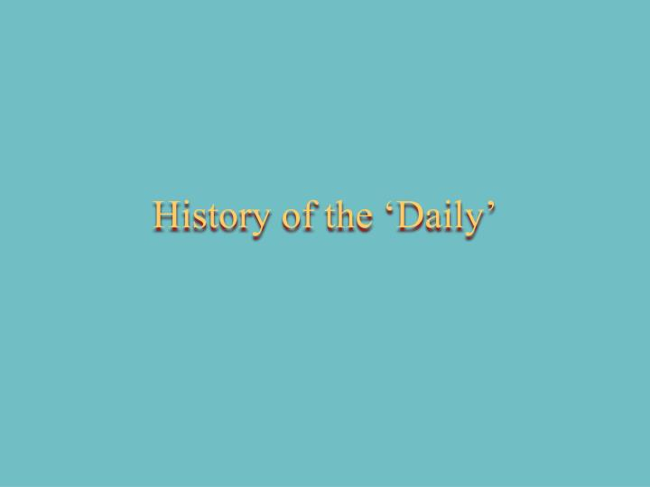 history of the daily n.