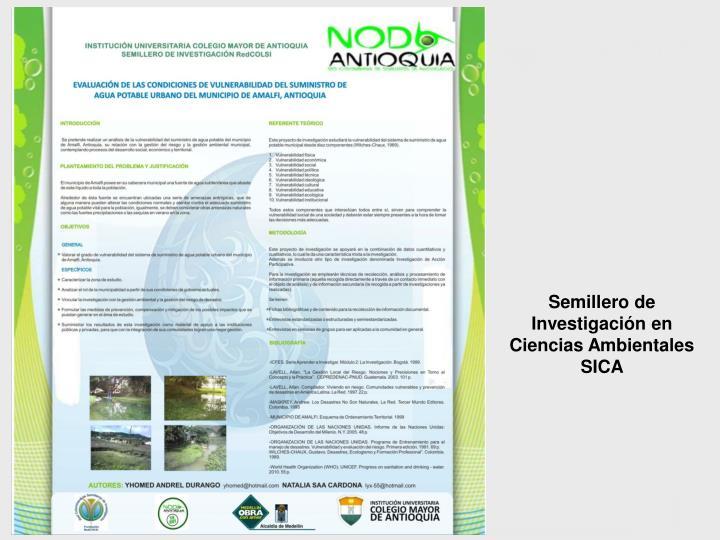 Semillero de Investigación en Ciencias Ambientales SICA