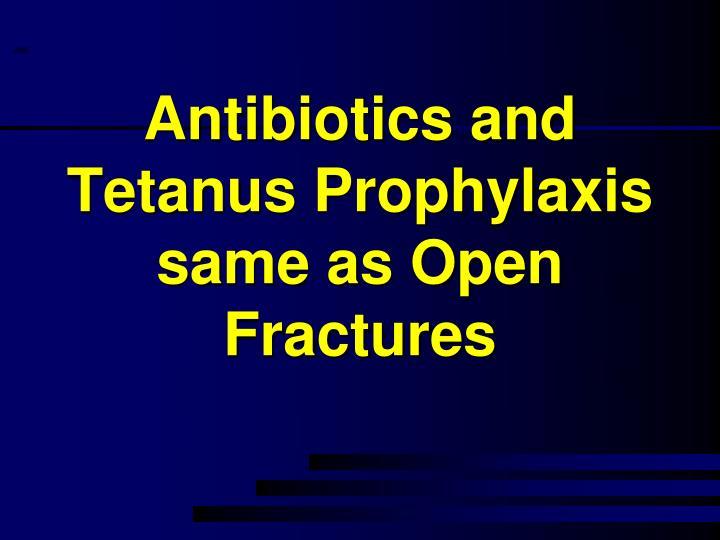 Antibiotics and