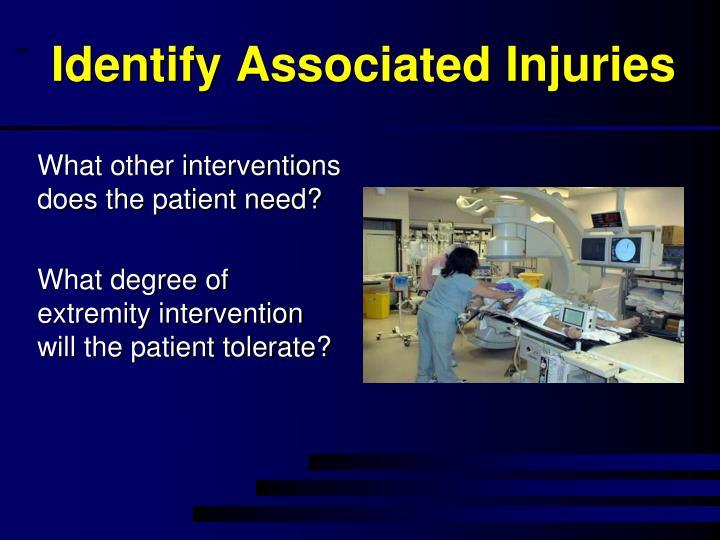 Identify Associated Injuries