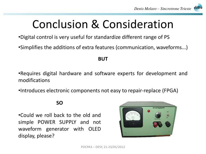 Conclusion & Consideration