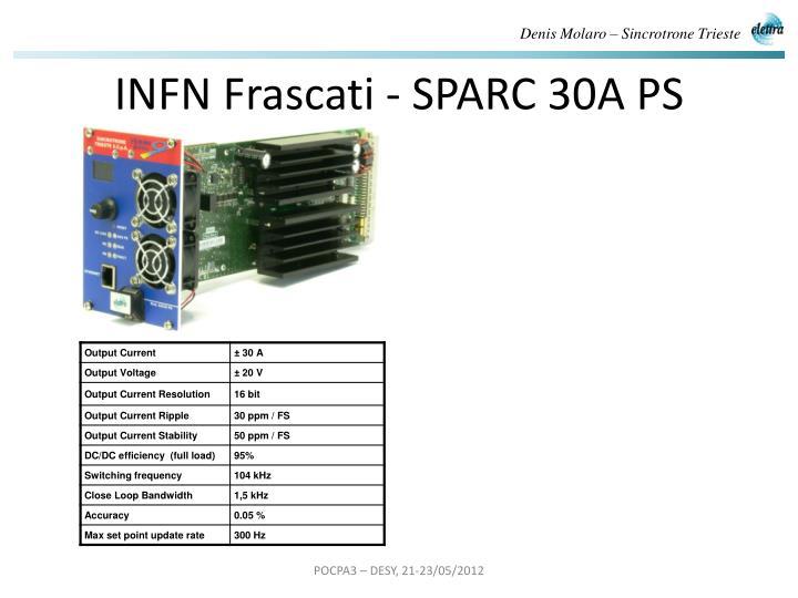 INFN Frascati - SPARC 30A PS