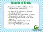 benefit of herbs