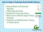 most exciting promising natural health enhancer