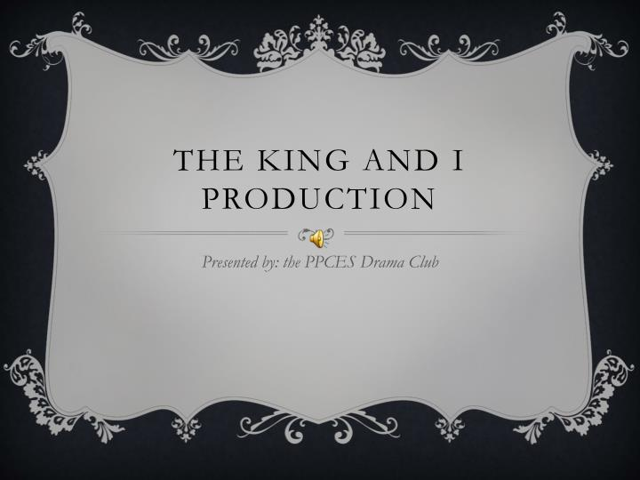 the king and i production n.