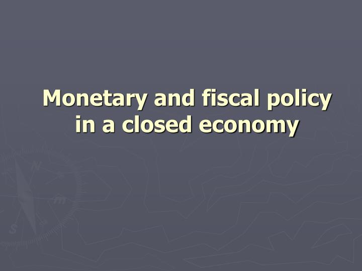 monetary and fiscal policy in a closed economy n.
