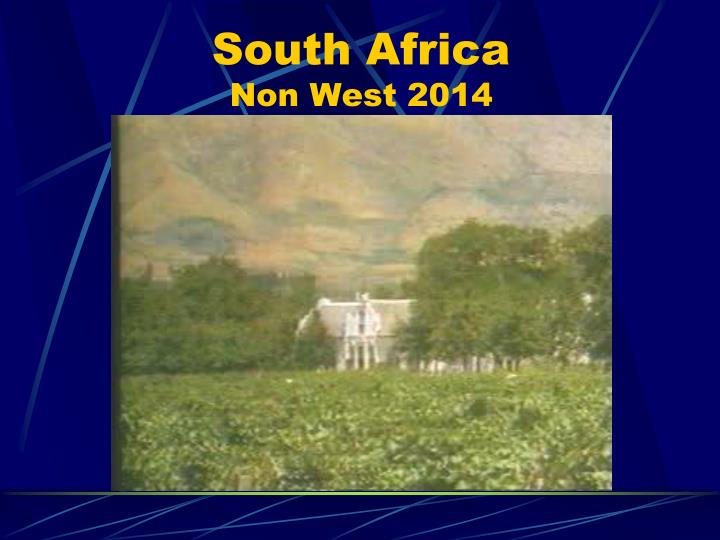 south africa non west 2014 n.