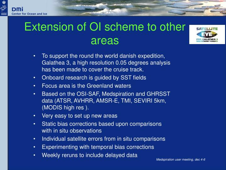 Extension of OI scheme to other areas