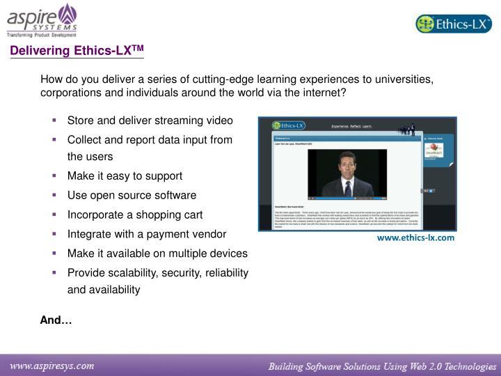 Delivering Ethics-LX