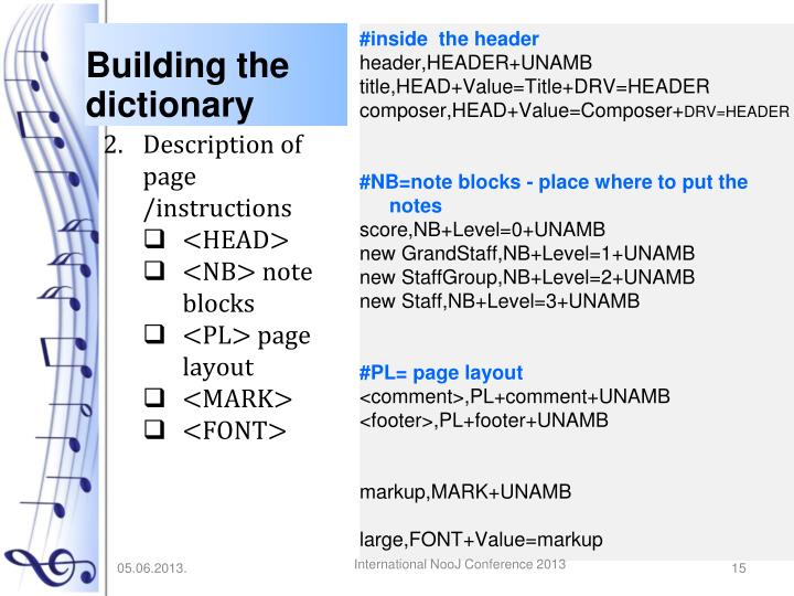 Building the dictionary