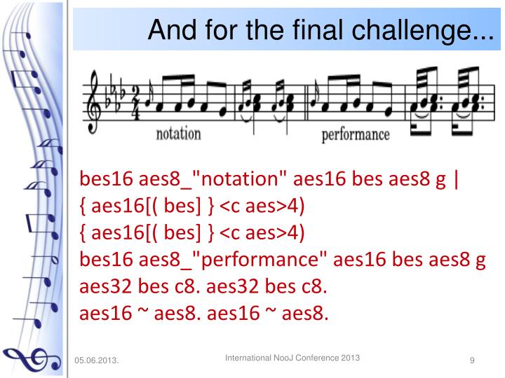 And for the final challenge...