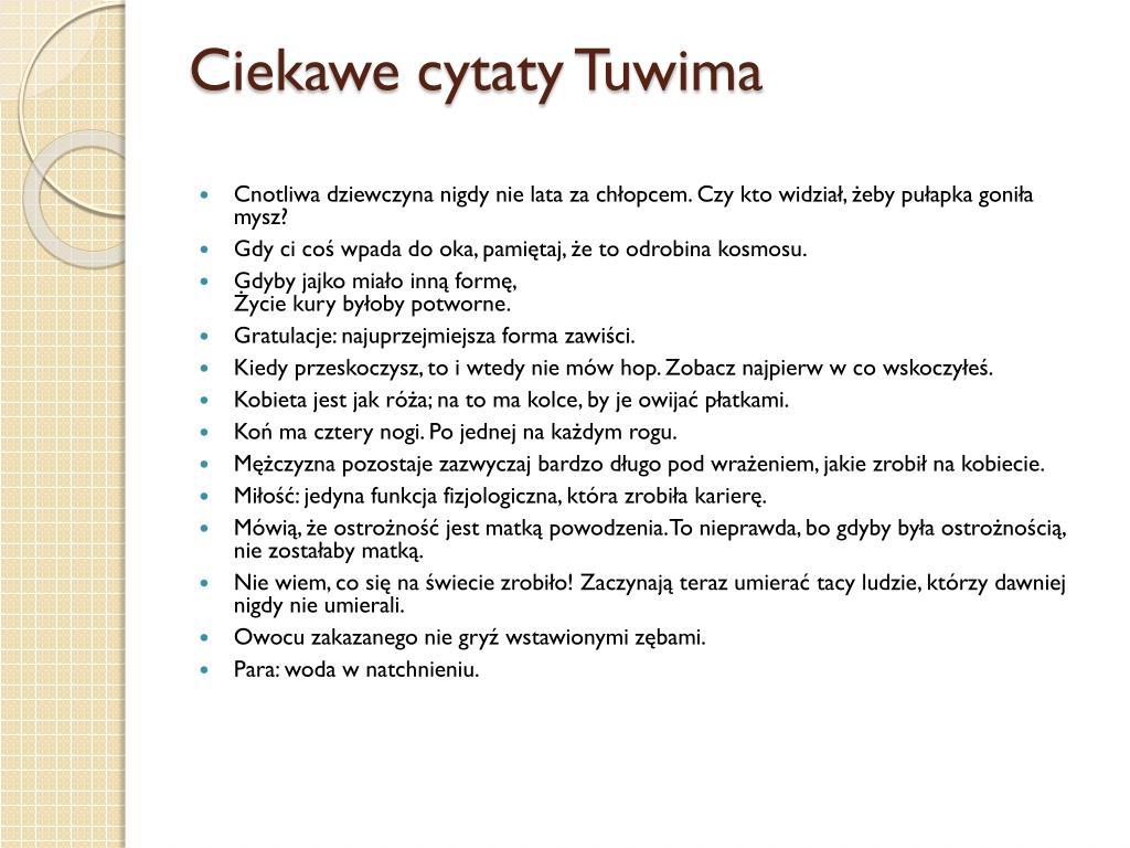 Ppt Julian Tuwim Kim Był Powerpoint Presentation Id