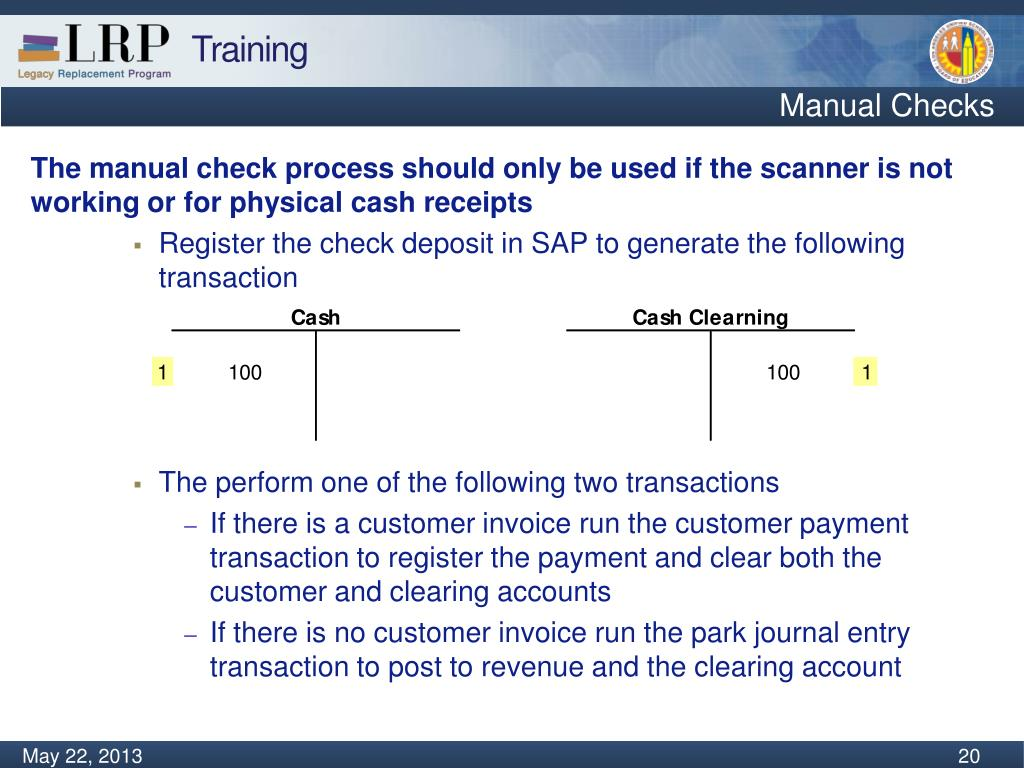 What is park and post sap
