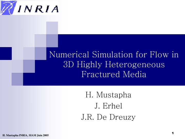 numerical simulation for flow in 3d highly heterogeneous fractured media n.