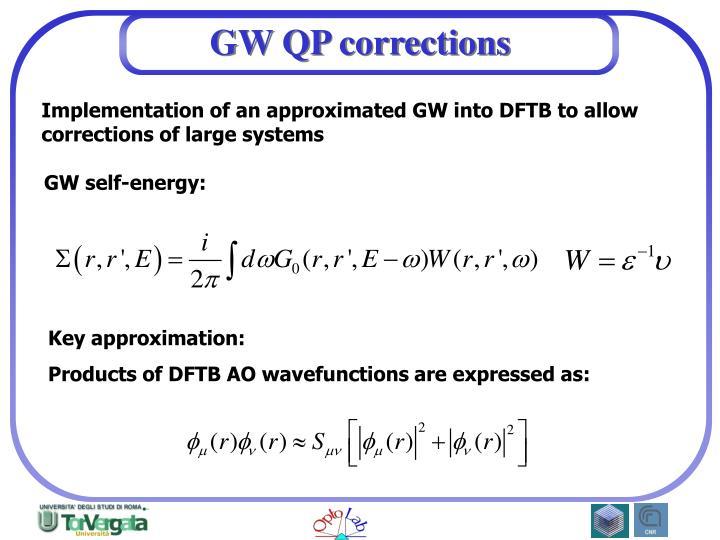 GW QP corrections