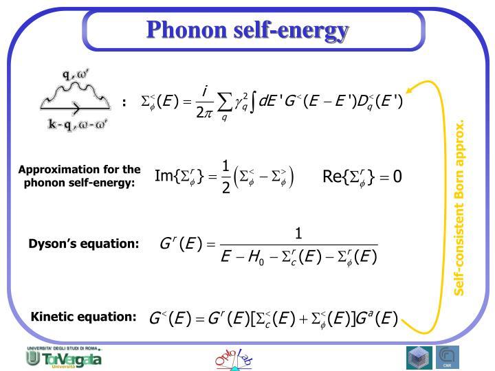Phonon self-energy