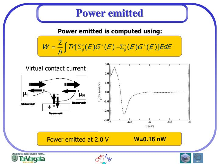Power emitted