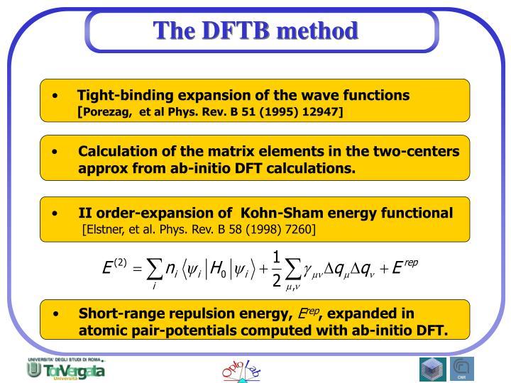 The dftb method