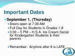 important dates5
