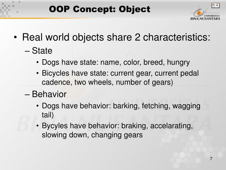 OOP Concept: Object
