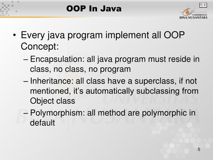 OOP In Java