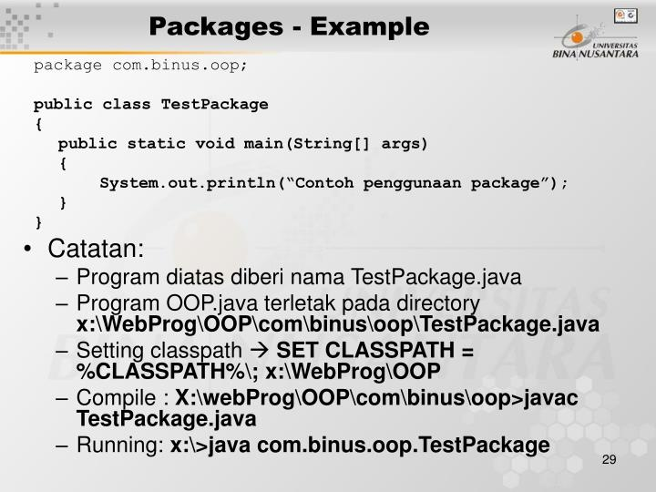 Packages - Example
