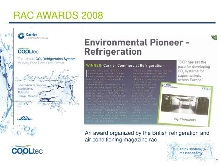 RAC AWARDS 2008