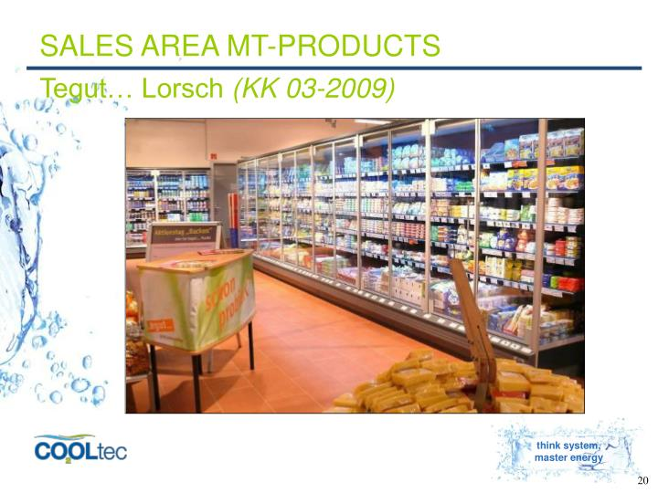 SALES AREA MT-PRODUCTS