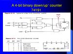 a 4 bit binary down up counter 74191