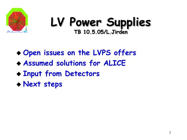 lv power supplies tb 10 5 05 l jirden n.