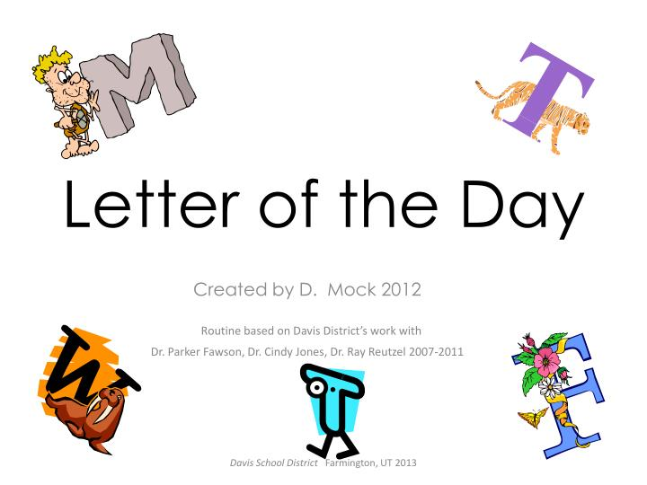 letter of the day n.
