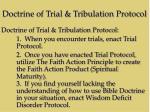doctrine of trial tribulation protocol