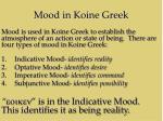 mood in koine greek1