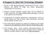 a prospect for solar sail technology utilization
