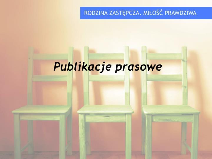 Publikacje prasowe