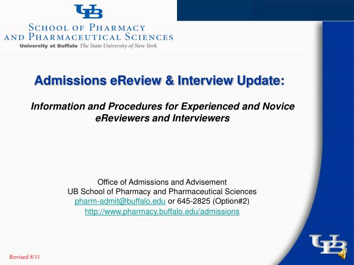 admissions ereview interview update n.