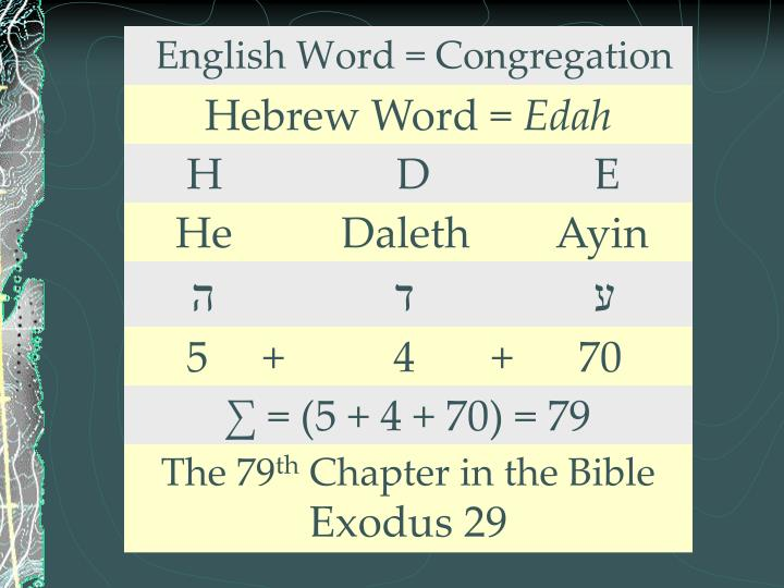English Word = Congregation