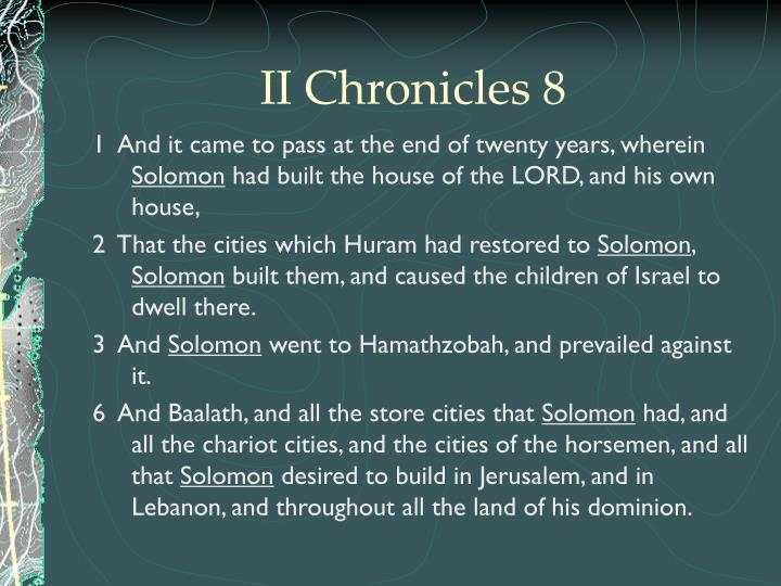II Chronicles 8