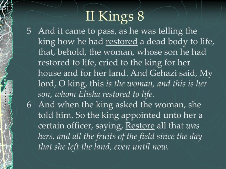 II Kings 8