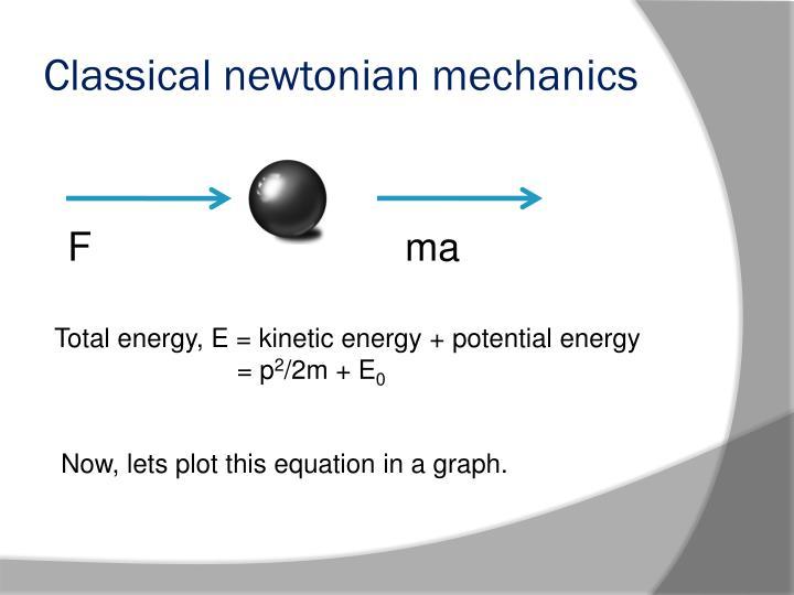 Classical newtonian mechanics