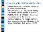 non price determinants