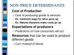 non price determinants2